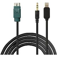 Eximtrade USB 3.5mm AUX y Lightning Conector MP3 Música Audio Cable AI-NET Conector para Alpine Estéreo