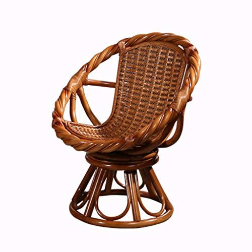 Enqing Loungesessel für zu Hause, Drehstuhl mit Balkon, Rattan-Stuhl, bequem im Wohnzimmer, Tisch und Stuhl um 360 Grad drehbar