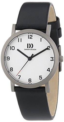Danish Design Women's Quartz Watch with Black Dial Analogue Display and Gold Leather 3326600 XS
