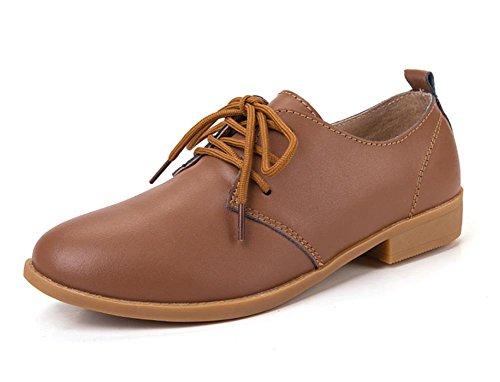delle donne piane sceglie i pattini scarpe casual scivolare scarpe scarpe ascensore Ms. Autunno Brown