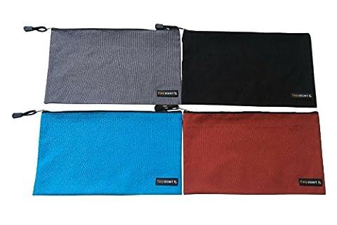 4 Pack - Werkzeugtaschen mit zuverlässigen Metall-Reißverschlüssen, organisieren intelligenter und effizienter mit dauerhafter Aufbewahrung, 12,5