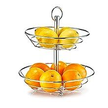 Zeller 27302 Fruit Cake Stand, Silver, 26 x 29 cm