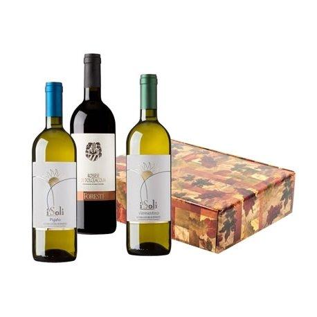 Cesto natalizio - confezione vini liguria