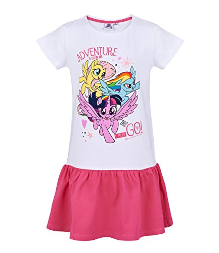 Little Kostüm Pony My Mädchen - My little Pony Kleid, weiß-pink, Gr. 92-128 Größe 92