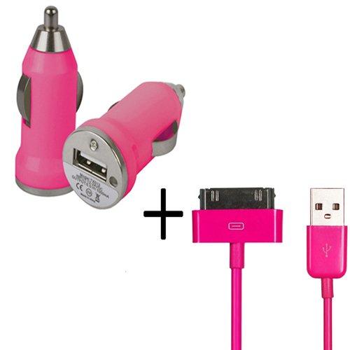 Xtra-Funky Esclusivo Proiettile forma di viaggi auto Caricabatterie USB Adapter & 1 Metro Metro di (Motorola Viaggi Adattatore)