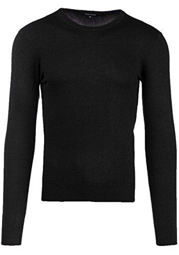 BOLF Herren Pullover Sweater Sweatshirt Strickpullover Pulli Slim Mix 5E5 Motiv Schwarz_6001