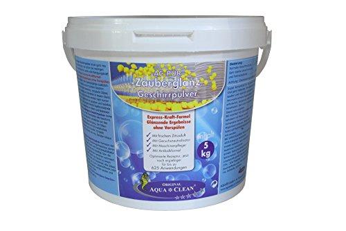 AQUA CLEAN PUR Zauberglanz Geschirrpulver 5kg !!! Neu mit Express-Kraft Formel, 5kg !!! (Zitrone)