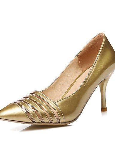 WSS 2016 Chaussures Femme-Bureau & Travail / Décontracté-Noir / Rouge / Blanc / Argent / Or-Talon Aiguille-Talons / Bout Pointu-Talons-Polyuréthane golden-us10.5 / eu42 / uk8.5 / cn43