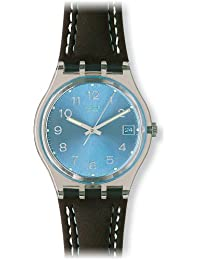 Swatch Herren-Armbanduhr Blue Choco Analog Quarz GM415
