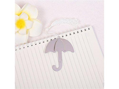 de Metall Regenschirm geformt mit Quaste Seite Halter Lesezeichen Haushalt Büro Dekor für Büro ()