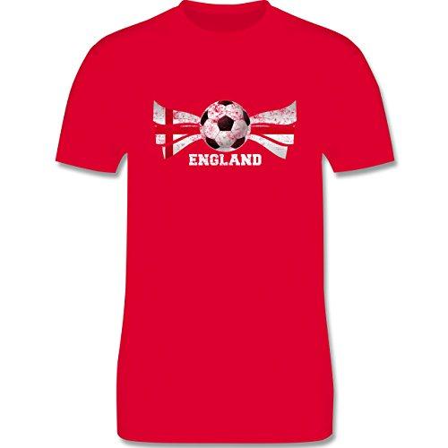 EM 2016 - Frankreich - England Fußball Vintage - Herren Premium T-Shirt Rot