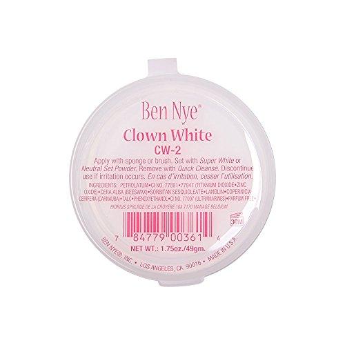 Ben Nye Clowns-Make-up weiße Gesichtsmaske - 49 Gramm