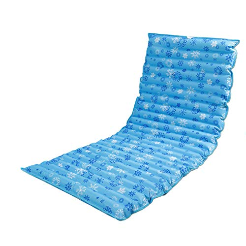Tradtrust Aufblasbar Kissen, Faltbar Außen Wasser Matratze Pad Wasser Wohnheim Bett Matte (160x50cm/180x75cm/190x75cm) - 190cmx75cm-snowflake -