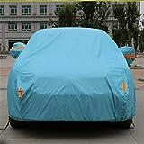 GLJY Auto-Cover, Auto-Cover Mit Fluoreszierenden Streifen UV-Schutz Allwetter-Schnee-Staub-Regen Wind-Resistent Outdoor Protector,Blue,XL