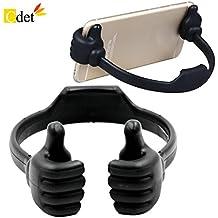 Cdet Soporte portátil flexible lindo pulgar diseñado smartphone mesa table desk stand display soporte para la mayoría del iPad del teléfono móvil,Negro