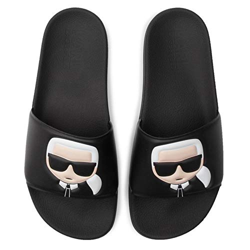 Karl Lagerfeld Men's Kondo Karl Ikonik Slide Sandals - Black - UK 7 - Black