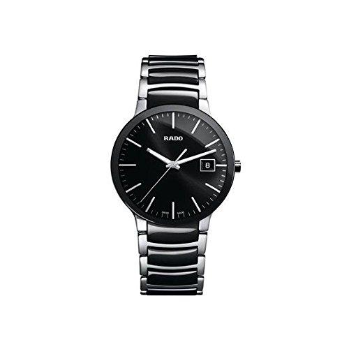 Rado R30934162–Armbanduhr Herren, Armband aus Edelstahl Farbe Schwarz