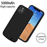 Scheam Cover Batteria iPhone 11 PRO 5.8 inch,5000mAh Custodia Ricaricabile Cover Caricabatterie Batteria Esterna Battery Case Batteria Power Bank Backup Charger Case per iPhone 11 PRO 5.8 inch,Nero