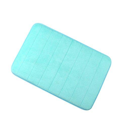 uxcell Badezimmer Mats Rutschfest saugfähigem Memory-Schaum Teppiche Teppich Türkis Blau 61x 40,6cm (Badezimmer-teppiche-memory-schaum)