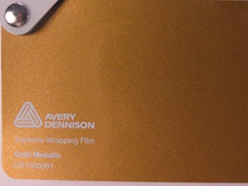 Preisvergleich Produktbild Avery Supreme Wrapping Film Serie Gold Metallic gegossene Autofolie 100 x 152 cm Zuschnitt