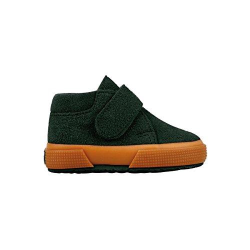 Superga S001NW0 2174-BSUJ, Chaussures montantes mixte enfant Green Pine