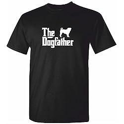 Mens PUG T Shirt - The DOG FATHER Black Tshirt