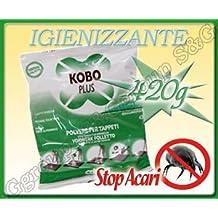 Kobo Plus - Lote de bolsas de 400 g de detergente en polvo para limpieza en seco de alfombras con aspiradores de escoba Bosch, Hoover e Imetec
