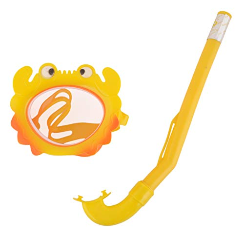 Yellow Bee Girls Crab Snorkel and Mask Set, 4-9 Years (Yellow)