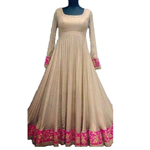 Vaankosh Fashion Women`s Lycra Anarkali Style Bollywood Designer Salwar Suits Dress Materials