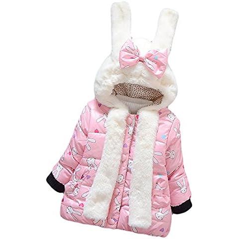 Tkria Invernale Bambina Cotone Outwear Cappotto Giacca Inverno Caldo Cappuccio