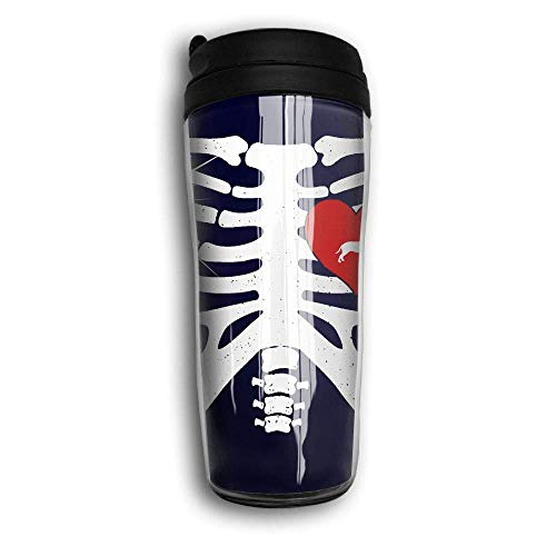 0fe42d525c Skeleton Rib Cage Costume Halloween with Pitbull Portable Curved Coffee  Cups 350ML Vacuum Insulated Thermal Mugs