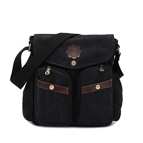 Fashion Casual Bag Leinentasche,Black Black