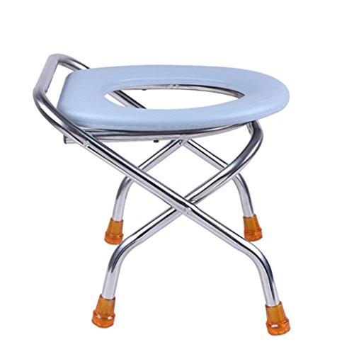 MyAou-commode Toilette rembourrée Femme Enceinte Assise sur la Chaise Tabouret de Toilette Patient handicapé Toilettes Mobiles Pliantes