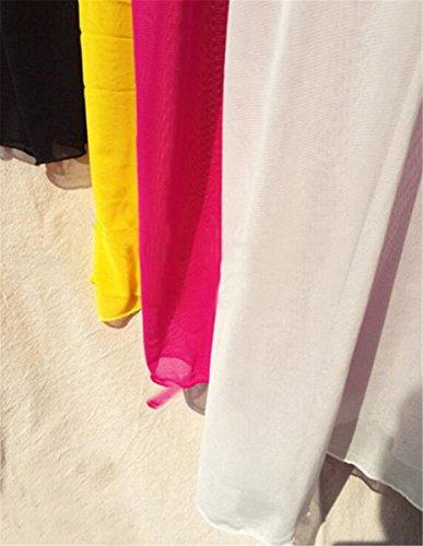 ZKKK Sommer Sexy Transparente Elastische Mesh Spitzenbluse Bikini Strand Außerhalb Kittel Frau Weiß