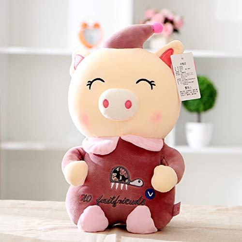mangege Mascot Gripper Rag Doll Teen Süße Ferkelpuppe Plüschtier Hochzeitspuppe Batch Höhe ca. 20-25 cm Clown Schwein Weinrot (Clown Rag Doll)