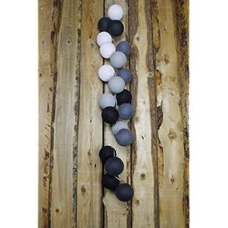 Cotton Ball Lights Antra 20 Lichterkette, Baumwolle, Mehrfarbig