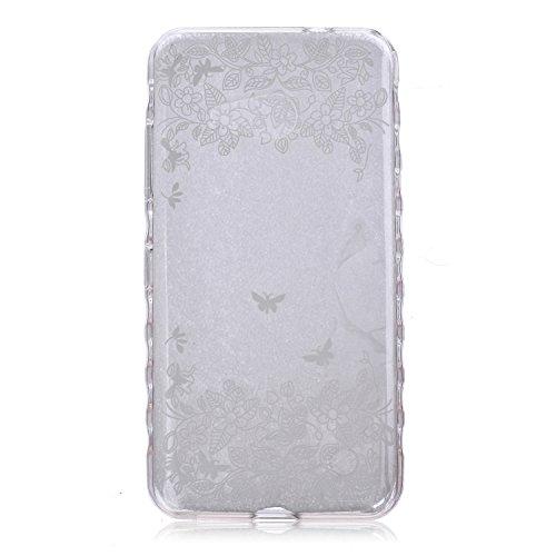 Voguecase® Pour Apple iphone 4 4G 4S, Ultra-minces TPU Silicone Shell Housse Coque Étui Case Cover (arrière)+ Gratuit stylet l'écran aléatoire universelle danse papillon 01