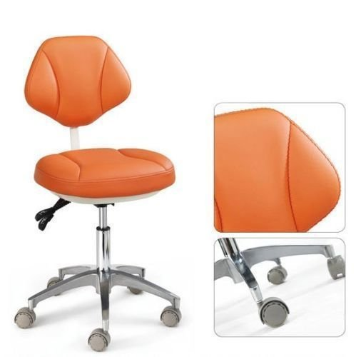 Office-stühle Dental (dentallabore Medical Büro des Assistenten Hocker verstellbar Mobile Stuhl Leder orange)