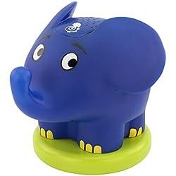 ANSMANN Sternenlicht Projektor Elefant - Die Sendung mit der Maus - LED Nachtlicht mit Musik & Sternenhimmel Projektor ideal als Einschlafhilfe für Baby & Kinder - Schlummerlicht als Babyzimmer Deko