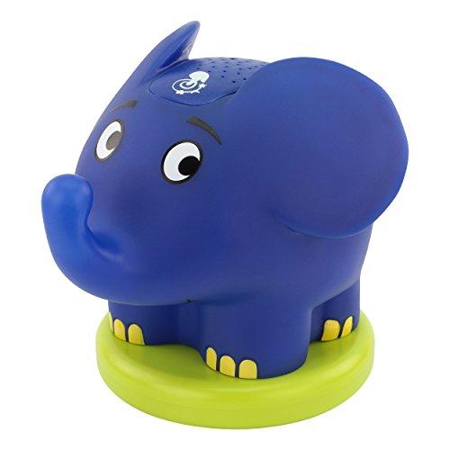 ANSMANN LED Sternenhimmel Nachtlicht Elefant - Nachttischlampe ideal als Einschlafhilfe mit Musik und Farbspiel fürs Kinderzimmer - Schlummerlicht Kinderlampe mit Sensor Touch für Baby & Kinder