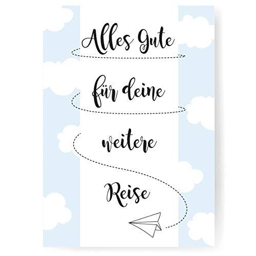 """Lustige Abschiedskarte im DIN A4 Format mit Umschlag \""""Papierflieger\"""" - XXL Klappkarte mit viel Platz für Kollegen zur Rente, zum Jobwechsel oder zum Mutterschutz - von Sophies Kartenwelt"""