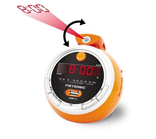 METRONIC Juicy USB 477023 Radio Projektionswecker orange
