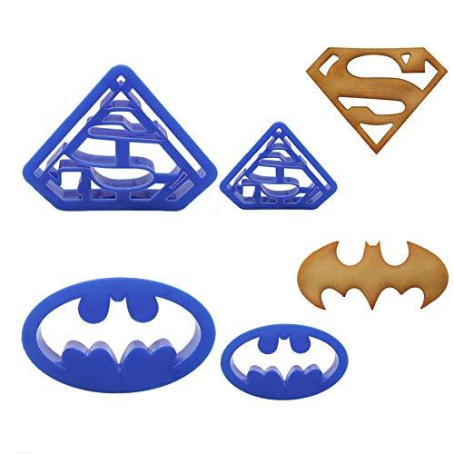 Ausstechformen, Superheld, Batman, Superman, Sugarcraft Fondant, Kuchen, Dekoration, Kekse, Backen, Gebäck Werkzeug Yichener