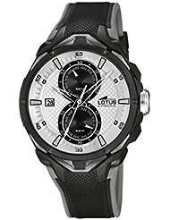 Lotus 18107/1 - Reloj de pulsera hombre, Caucho, color Negro