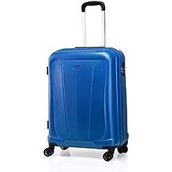 """Verage Hero Handgepäck Koffer Blau S-48cm(19"""") Trolley Suitcase Reisekoffer Marken-Qualitätsware, Zahlenschloss, 4 Doppelräder, 55x40x20cm 35L Kabinenkoffer erweiterbar auf 55x40x25cm 44L"""