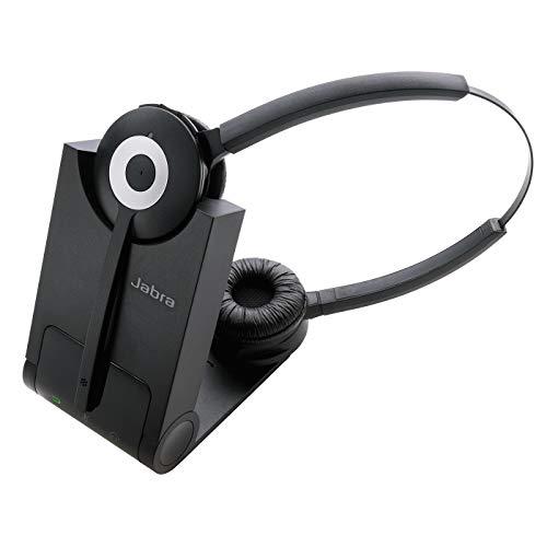 Oferta de Jabra Pro 920 Duo DECT Auriculares alámbricos estéreo - Cancelación de Voz y Ruido en HD con batería para Todo el día - Optimizados para teléfonos de Escritorio - Enchufe UE