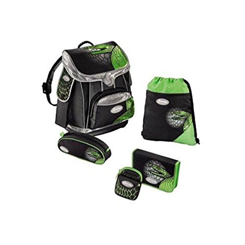 Sammies Premium - Schulranzen Set 5 tlg. - Green Mamba
