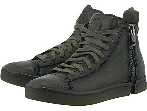 Diesel Stivaletto Uomo Nentish Sneaker Alta Men Zip leather Olive Night_44