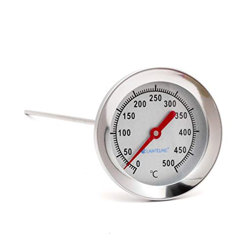 Lantelme 500 °C Thermometer 50 cm Sonde Edelstahl Grill Bratofen Backofen Pizzaofen Holzbackofen Analog Bimetall 4897 -