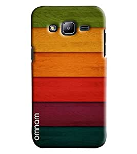 Omnam Colorful Wooden Stripes Printed Designer Back Cover Case For Samsung Galaxy J2